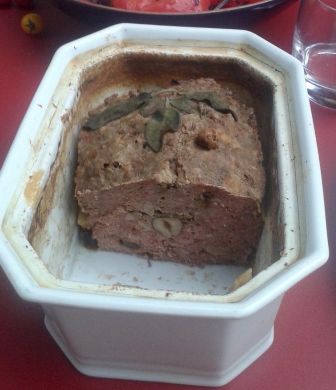 terrine de chevreuil aux cèpes et au piment d'espelette